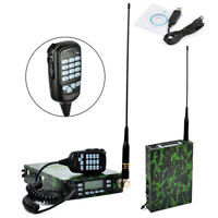 25W 12000mAh Battery Dual Band Portable Mobile Transceiver With Antenna Adapter