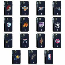 OFFICIAL NBA LOGO 2 BLUE LEATHER BACK CASE COVER FOR APPLE iPHONE PHONES