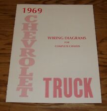 1969 Chevrolet Truck Wiring Diagram Manual for Complete Chassis 69 Chevy