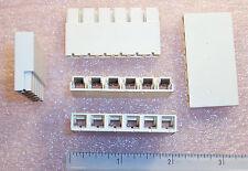 Qty (5) 54483-6 Amp 6 Position Power Lock Housing