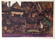 "Schiele Egon Lithograph ""House in Krumau"" printed 1968, N12"