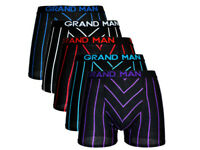 Boxershorts Herren 5er Pack Streifen Baumwolle Unterwäsche Unterhose Gr. M-3XL