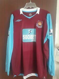 West Ham United Football Home Shirt 2008-2009 Size XL Scott Parker NO 8