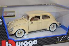 Burago 12029BG - Volkswagen VW COCCINELLE 1955 BEIGE 1/18 BBURAGO