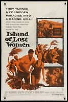ISLAND OF LOST WOMEN Exploitation ORIGINAL 1959 ONE Sheet Movie Poster 27 x 41