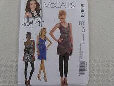 McCall's 5878 Hillary Duff SEXY dress top Sewing Pattern size 4-6-8-10-12