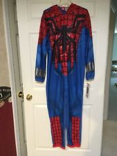 Mens Briefly Stated Spiderman Marvel Union Suit Costume One Piece Pajamas Size M