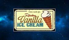 Vanilla Ice Cream Fridge Magnet. Retro Diner Sign. NEW. Americana