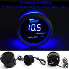 """US 2"""" 52mm Blue Digital LED Elec Volt Voltage Meter Gauge Boat Car AUTO 0~15V"""