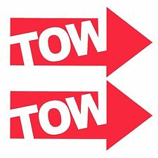 TOW Arrow Vinyl Car Window, Bumper Decal / Sticker / Graphic