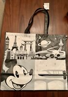"""Disney Parks Mickey Mouse Epcot Large Reuseable Bag Black And White 19"""" X 22"""""""