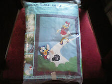 "Paragon Quick Crib Quilt Disney's ""Donald Duck & Daisy"" NeedleCraft"