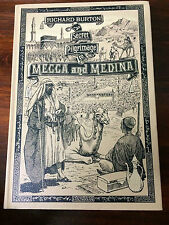 SECRET PILGRIMAGE TO MECCA AND MEDINA RICHARD BURTON Folio Society HC book & map
