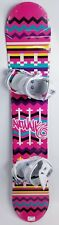 NEW $500 RARE Womens Airwalk Aztec Snowboard & White Avalanche Bindings 155CM