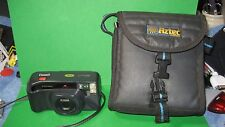 Pentax IQ Zoom 60 Film Camera, Flash, QZoom 60, Point & Shoot with Carrying Case