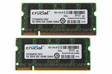 Crucial 4 GB RAM Kit 2x 2 GB 2Rx8 PC PC2-5300S SODIMM laptop Memory DDR2 667Mhz