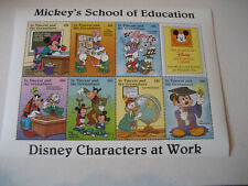 ST.VINCENT & THE GRENADINES 1996 DISNEY CHARACTERS AT WORK-MICKEY'S SCHOOL OF