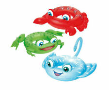 Inflatable Animal Shaped Swim Ring Kids Frog Crab Float Safe Fun Play
