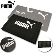 Puma Basic Wallet Sports Holiday Credit Card Holder Tri-Fold Zip Travel Black
