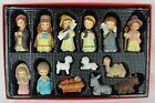 Christmas 14 Piece Mini Nativity Set - Children Figurines, Baby Jesus, & Animals