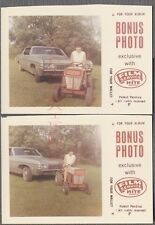 Vintage Car Photos Woman on Lawn Mower w/ 1968 Chevy Chevrolet Impala 686352