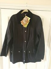 Barbour beadnell Wax Jacket Size 16 Navy
