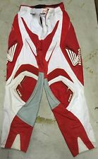 "Fox Honda Blitz Race Adult Pants Red White Grey Design Size 30 24"" Inseam"