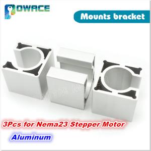 3Pcs Nema23 Bracket Mounts Support 57 Stepper Motor Aluminium alloy for CNC Kit