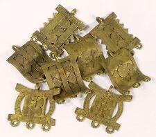 African Lost Wax Brass Cast Pendants Trade Beads Findings