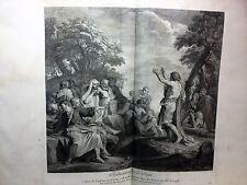 SAN GIOVANNI BATTISTA acquaforte originale Crozat Cabinet, 1763. C.MARATTA