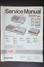 Panasonic pv-4100/4500/A32E vol.1-vol.5 ORIGINAL MANUAL DE SERVICIO / ESQUEMA