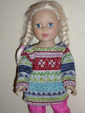 "Print Heavy Knit Sweater for 18"" Doll Clothes American Girl"