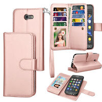 For Samsung Galaxy J3 Luna Pro / J3 Emerge Wallet Leather Case Flip Stand Cover