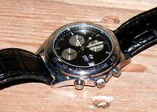 Urban Spirit Chrono sport Herren Armbanduhr Uhr Edelstahl Lederband 1188729