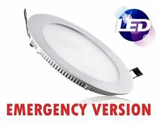 LED Emergency Panel Light 18W Suspended Ceiling Round Lamp 6400K Daylight White