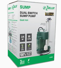 Zoeller 3/4HP 115v 80 GPM Cast Iron Submersible Sump Pump Water Lift NEW #1099