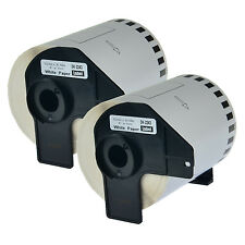 2PK New DK2243 White Paper Label for Brother DK-2243 QL-1050 Printer W/Cartridge