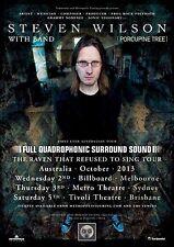 "STEVEN WILSON ""RAVEN THAT REFUSED TO SING TOUR"" 2013 AUSTRALIA CONCERT POSTER"