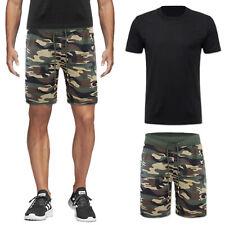 Completo Tuta Uomo T-Shirt + Bermuda Militare Short Pantaloncino Corto VEQUE