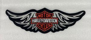 "Rare Harley Davidson Bar & Shield Straight Wing Vest Back Patch XL 15 1/2"" X 5"""