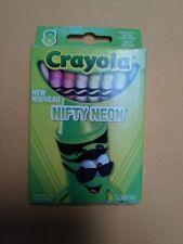 Crayola w Neon Crayons 8/pack (� J557)