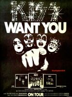 "1976 Kiss ""Want You""  Destroyer Album Release & U.K. Tour Promo Trade Ad RePrint"