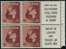"""Sg 459a Spec Pb5a (10) 1½d Red Brown """"For Safety"""" Advert Pane Inverted Watermark"""