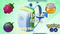 ☆Pokémon Go - Full Bag Refill - Random Items - Balls, Berries, Potions & More☆
