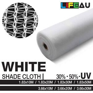 LiFEAU 30% 50% WHITE UV Shade Cloth Shadecloth Sail Garden Mesh Roll Outdoor
