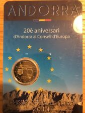 Andorra Coincard 2 Euro 2014 Commemorative Europe Council New UNC