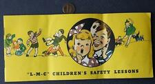 1938 Chicago,Illinois Lumberman's Children's Safety Guide booklet-With Song too!