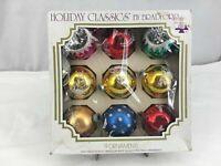9 Vintage Glass Christmas Ornaments