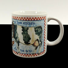 Cow Coffee Cup Mug Otagiri In This Kitchen I'm the Boss Chicken Checkerboard 3D