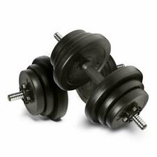Adjustable Dumbbells set 20kg free Weight weights Barbell sets bars men dumbells